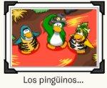 Postal de los pinguinos que el tiempo olvido